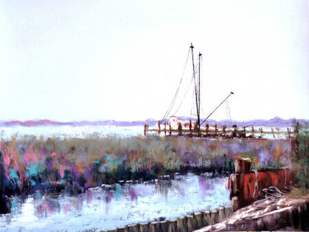 "THIRD PLACE - ""Folly Beach Shrimpers"" by Trish Emery"